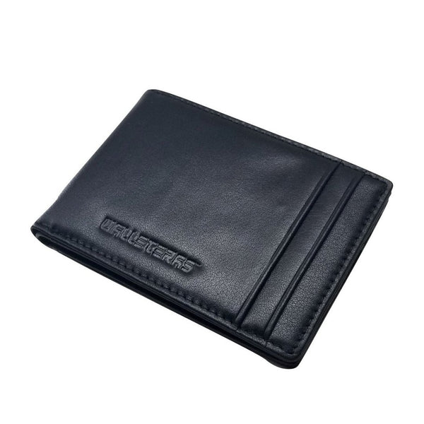 RFID High Capacity RFID Bifold in Black Leather - Preferet Bi-Fold Wallet WALLETERAS