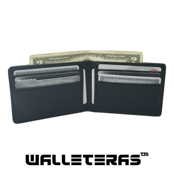 High Capacity RFID Bifold in Black - Preferet Bi-Fold Wallet WALLETERAS