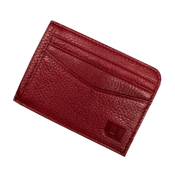 RFID Front Pocket Wallet with ID Window - Espresso Cash RFID Credit Card Holder WALLETERAS Red Full Grain