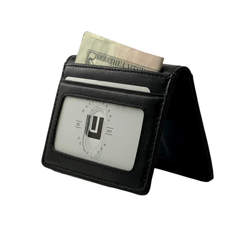 wallet with outer ID window black