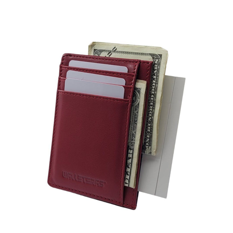 RFID Front Pocket Wallet and Card Holder with ID Window - DEC RFID BiFold Front Pocket Wallet WALLETERAS