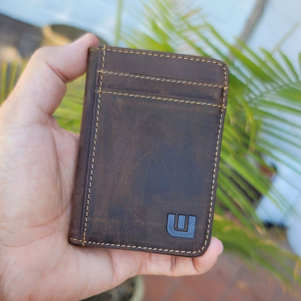 RFID Front Pocket Leather Wallet - Heritage S Front Pocket Wallet WALLETERAS
