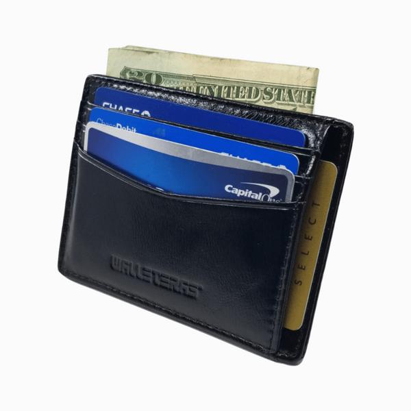 RFID Front Pocket Wallet and Card Holder - Otto RFID Credit Card Holder WALLETERAS Black