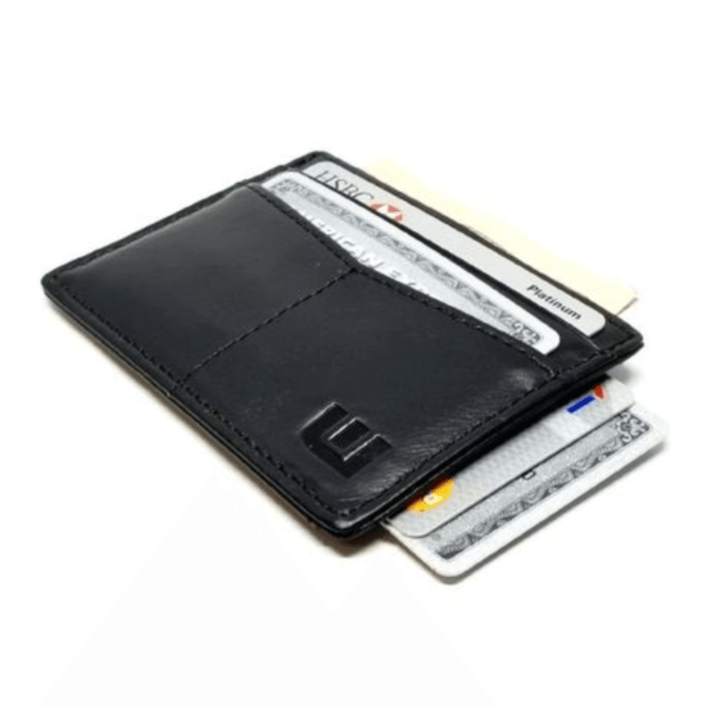 "RFID Minimalist Front Pocket Wallet / Credit Card Holder with ID Window - Espresso ""M"""