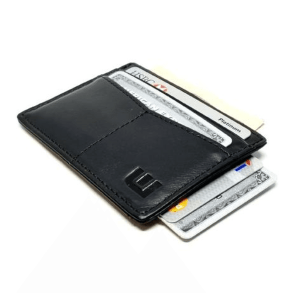 "RFID Minimalist Front Pocket Wallet / Credit Card Holder with ID Window - Espresso ""M"" RFID Credit Card Holder WALLETERAS Black M"