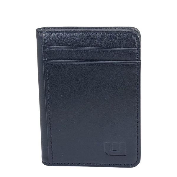Front Pocket Wallet with RFID Protection and ID Window - S1 RFID BiFold Front Pocket Wallet WALLETERAS Top Grain Black