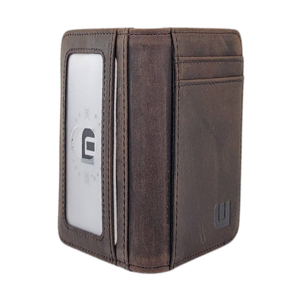 WALLETERAS Slim Bifold Front Pocket Wallet with ID Window - S/ID RFID BiFold Front Pocket Wallet WALLETERAS
