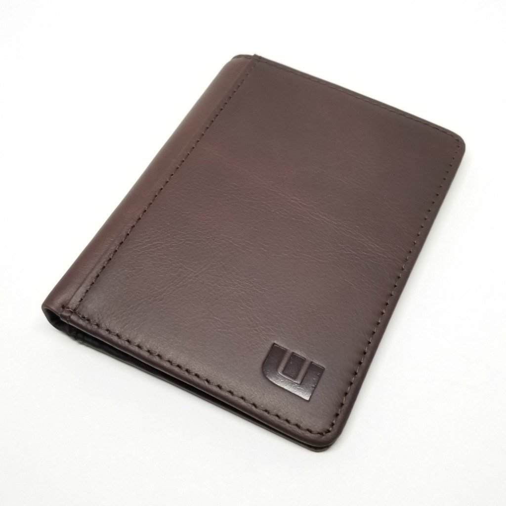 RFID Blocking BiFold Vertical Style Dark Brown - Vertex RFID Blocking Bi-Fold wallet WALLETERAS