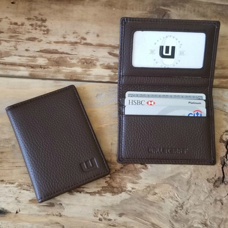 inside view bifold wallet with id window