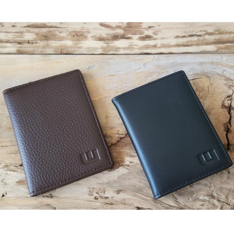 black and dark brown small wallets