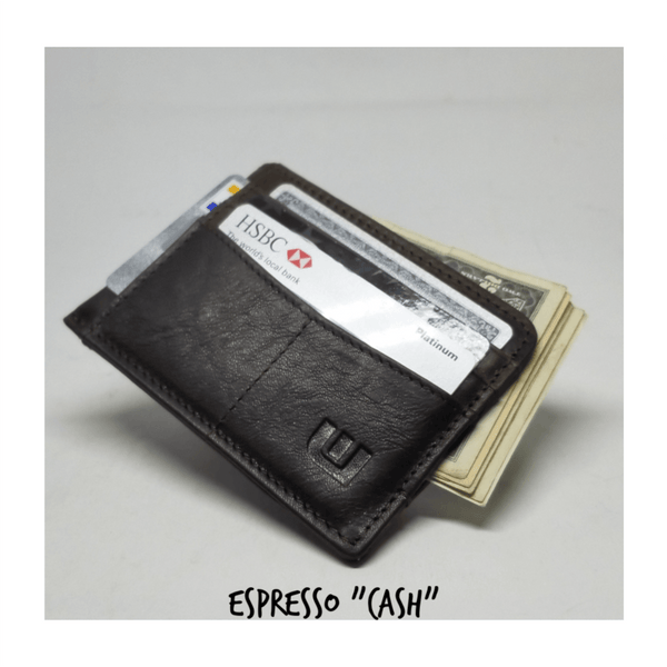 RFID Front Pocket Wallet with ID Window - Espresso Cash RFID Credit Card Holder WALLETERAS