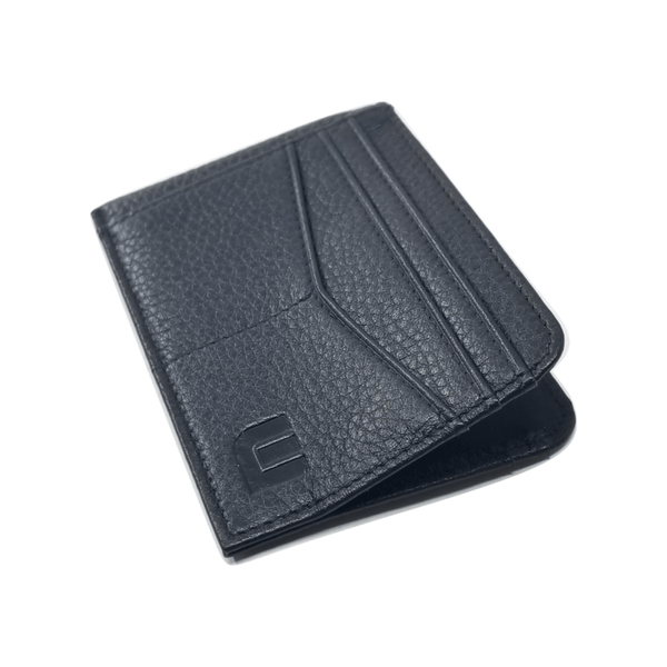 RFID Front Pocket Wallet with ID Window - Espresso Cash RFID Credit Card Holder WALLETERAS Black Full Grain