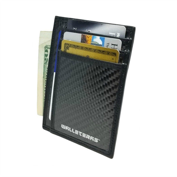 RFID Carbon Fiber Card Holder - Black -walleteras