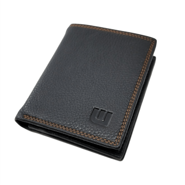 High Capacity / Vertical Style  Bi Fold  Leather Wallet -walleteras
