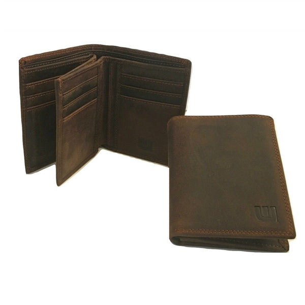 High Capacity / Vertical Style Bi Fold Leather Wallet Bi-Fold wallet WALLETERAS