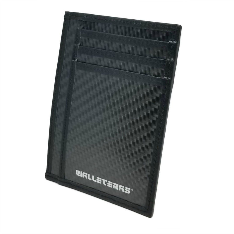 RFID Carbon Fiber Card Holder - Black RFID Credit Card Holder WALLETERAS
