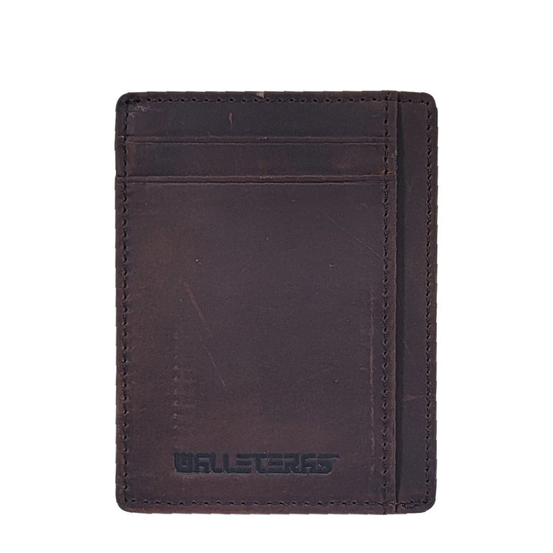 RFID Front Pocket Wallet and Card Holder with ID Window - DEC Credit Card Holder WALLETERAS Coffee S Crazy Horse