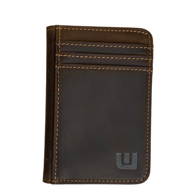 WALLETERAS Men's Wallet w/ 2 ID Windows - Heritage T2 Front Pocket Wallet WALLETERAS Coffee RFID