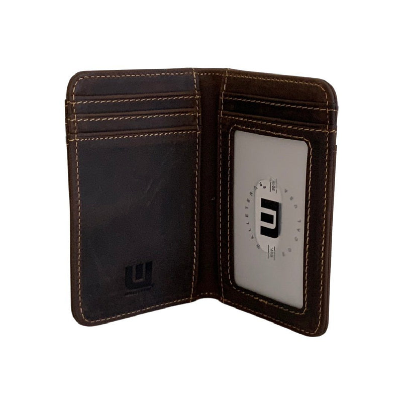 Front Pocket Leather Wallet w/ID - HT3 WALLETERAS