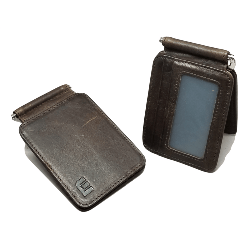 Front Pocket Wallet with Money Clip and ID Window - MC7PLUS Money Clip WALLETERAS Coffee