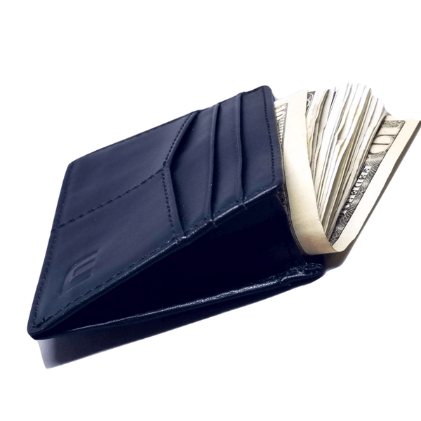 card holder with cash pocket black