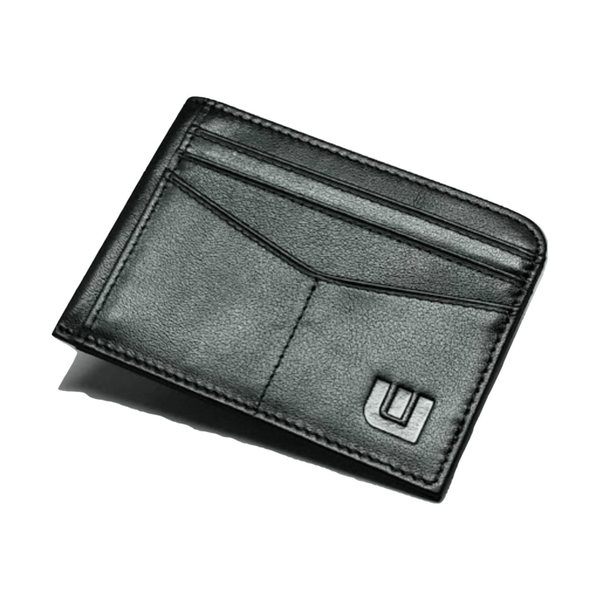 RFID Front Pocket Wallet with ID Window - Espresso Cash RFID Credit Card Holder WALLETERAS Black Top Grain