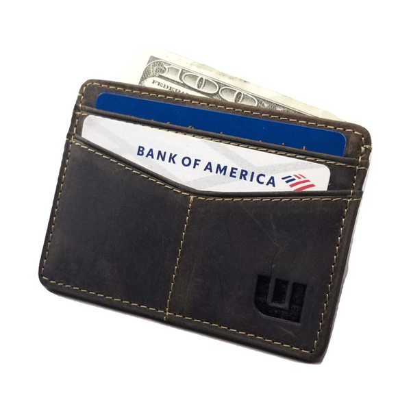 Minimalist ID Leather Wallet - Espresso H Credit Card Holders WALLETERAS