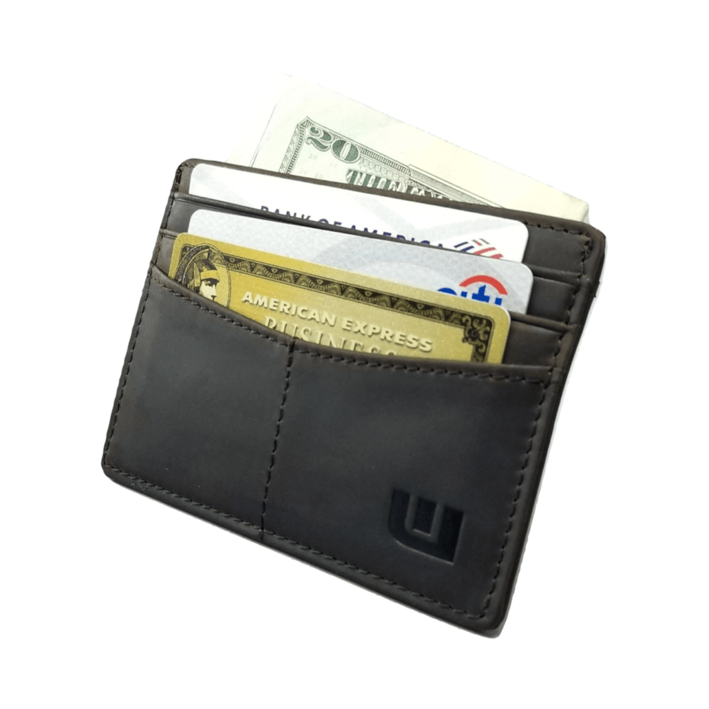 "RFID Front Pocket Wallet / Card Holder with ID Window - Espresso ""Plus"""