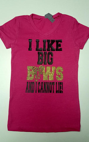 I Like Big Bows Girls Youth T shirt