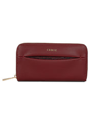 Cielle Sleek Red Wallet