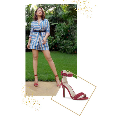 Yami Gautam in Rose Red Stilletos
