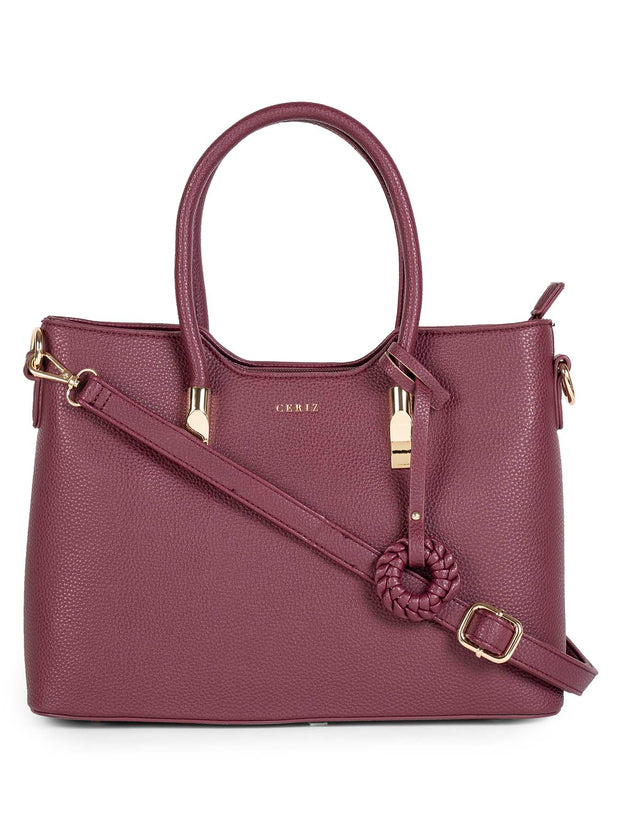Chrysalis Burgundy Handbag