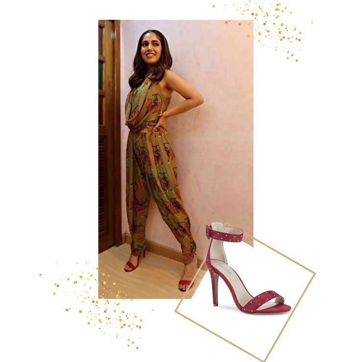Bhumi Pednekar in Rose Red Stilletos