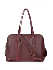 Francesca Burgundy Handbag