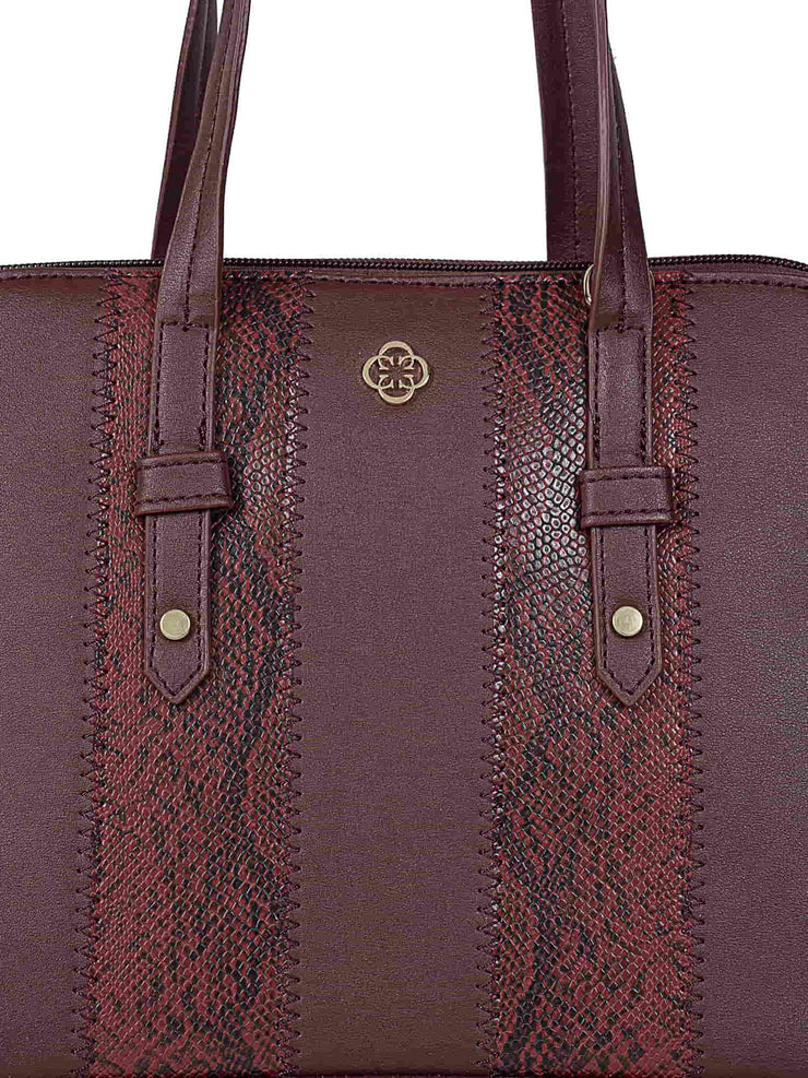 Francesca Burgundy Handbag 4