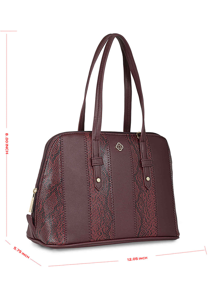 Francesca Burgundy Handbag 5