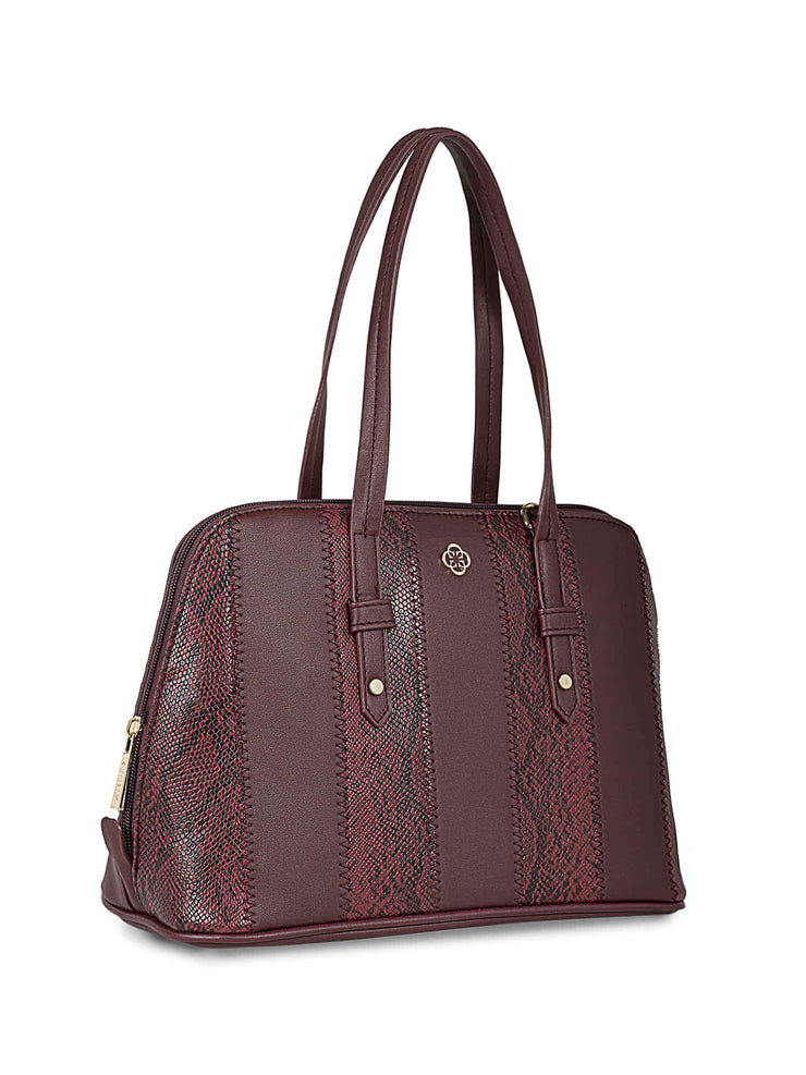 Francesca Burgundy Handbag 1