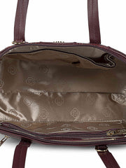 Francesca Burgundy Handbag 3