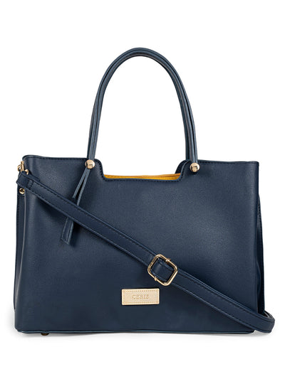 Aria Navy Handbag