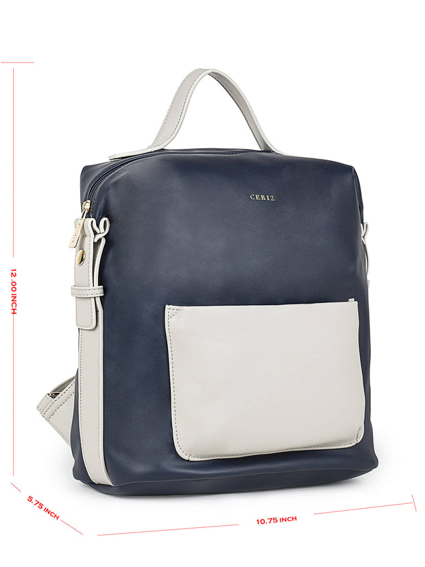 Brielle Trendy Navy Backpack 5