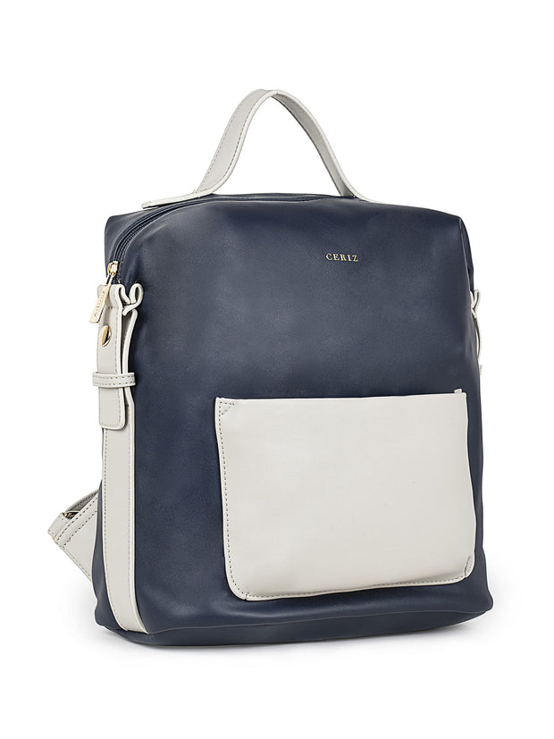 Brielle Trendy Navy Backpack 1