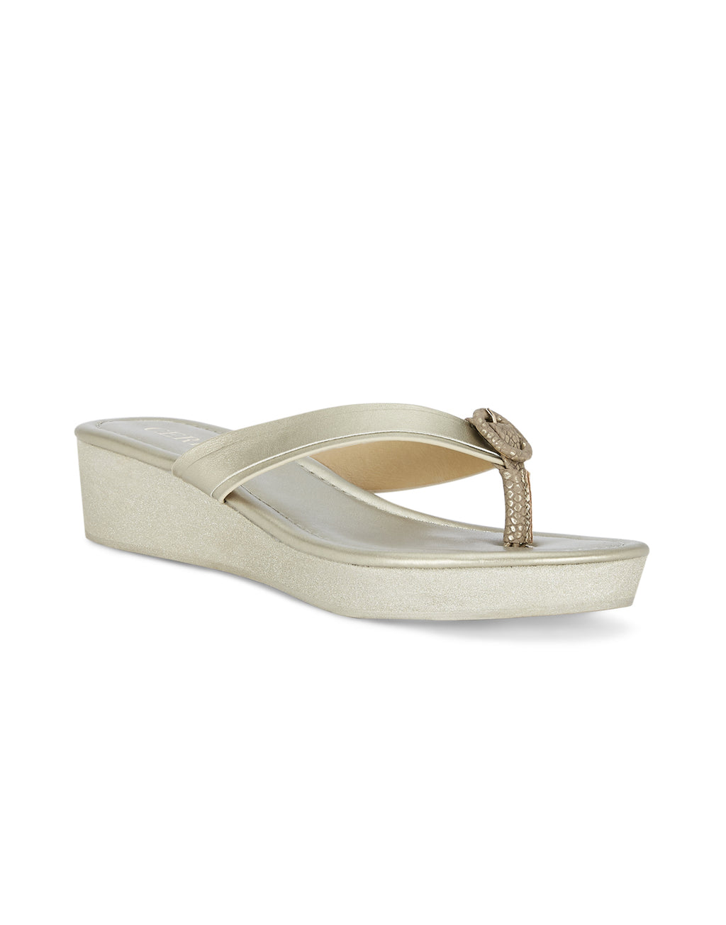 Mae Gold Wedge Sandals