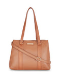 Alyssa Double Compartment Tan Handbag