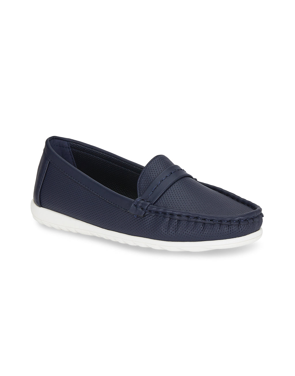 Brianna Mod Navy Loafers