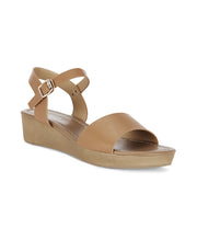 Colette Tan Wedge Sandals