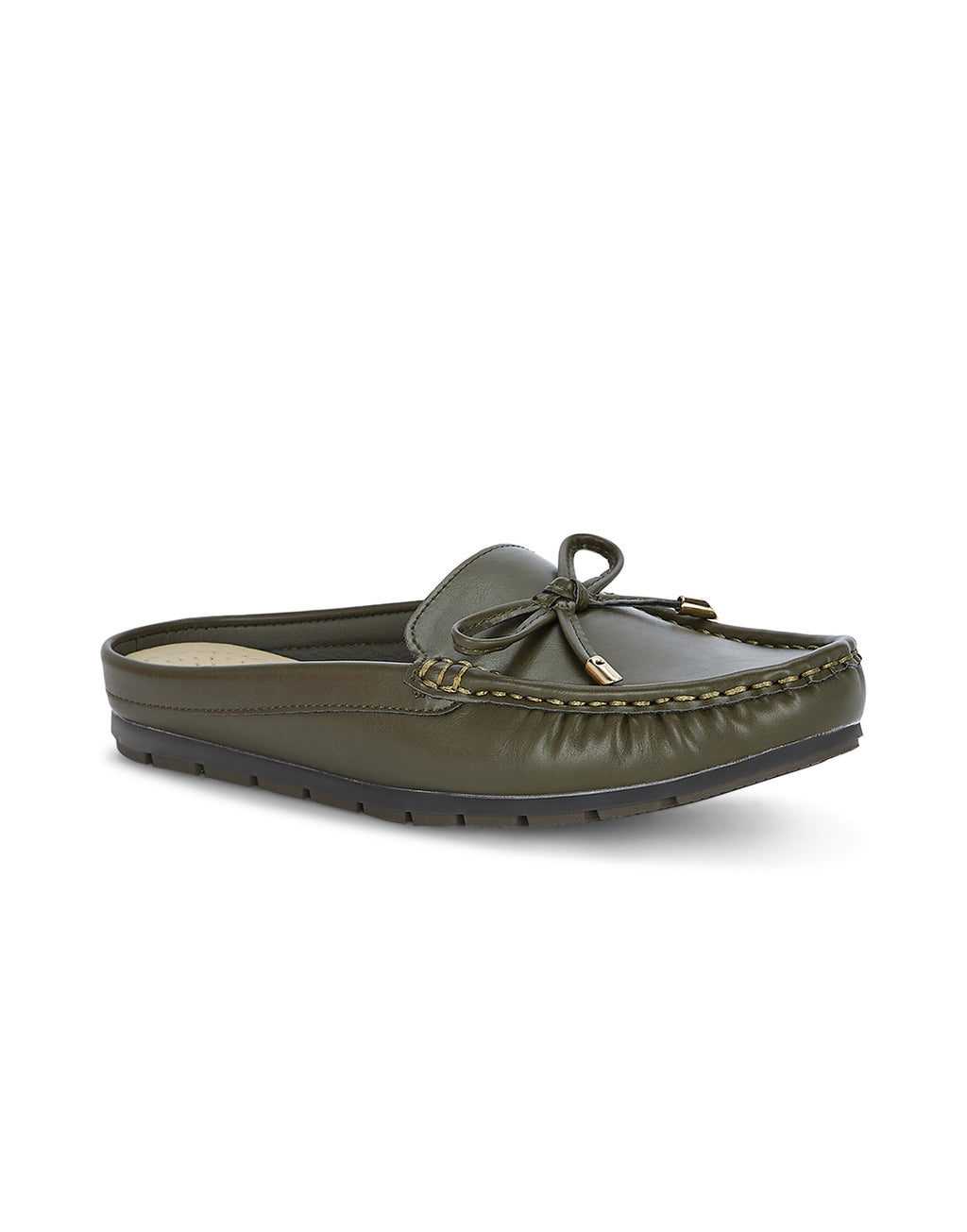Elena Olive Loafers