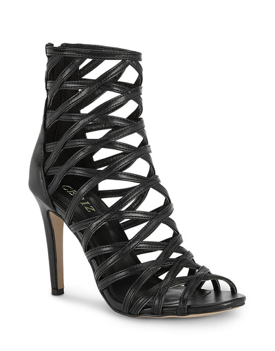 Salome Black Stiletto Sandals