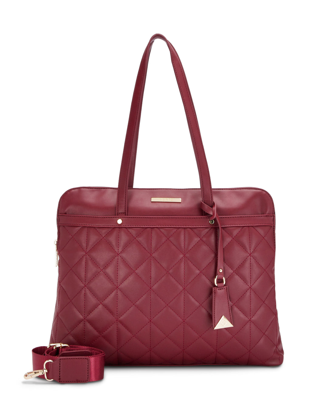 Chantae Quilted Maroon Laptop Bag