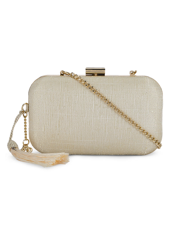 Damaris Cream Clutch