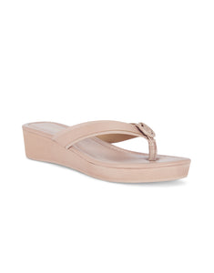 Mae Nude Wedge Sandals